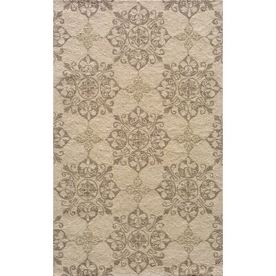 St James Hand-Hooked Beige Indoor/Outdoor Area Rug Rug Size: 5 x 8