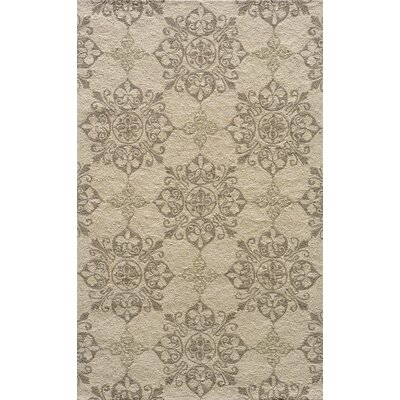 St James Hand-Hooked Beige Indoor/Outdoor Area Rug Rug Size: 2 x 3