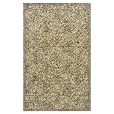 St James Hand-Hooked Taupe Indoor/Outdoor Area Rug Rug Size: 39 x 59