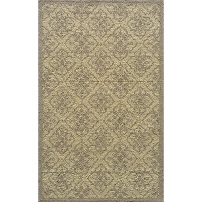 St James Hand-Hooked Taupe Indoor/Outdoor Area Rug Rug Size: Rectangle 2 x 3