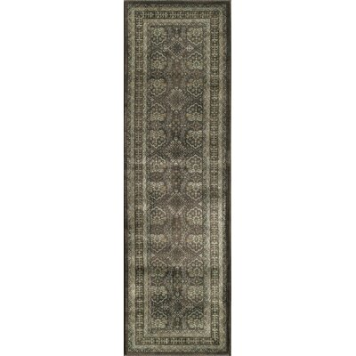 Creslow Charcoal Area Rug Rug Size: Rectangle 53 x 79