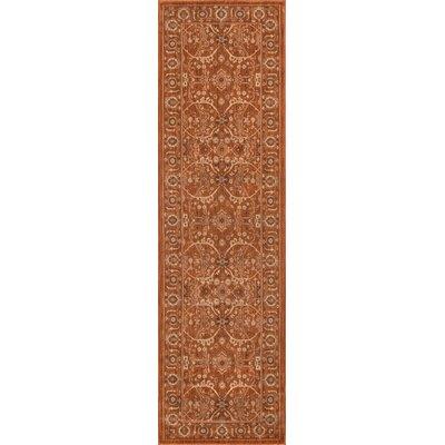 Creslow Paprika Area Rug Rug Size: 93 x 126