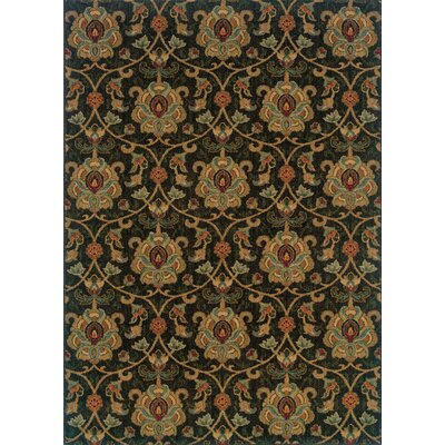 Crossreagh Black/Beige Area Rug Rug Size: 110 x 33