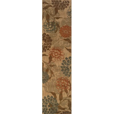 Crossreagh Beige/Green Area Rug Rug Size: Runner 110 x 76