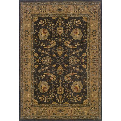 Crossreagh Brown/Black Area Rug Rug Size: Rectangle 53 x 76