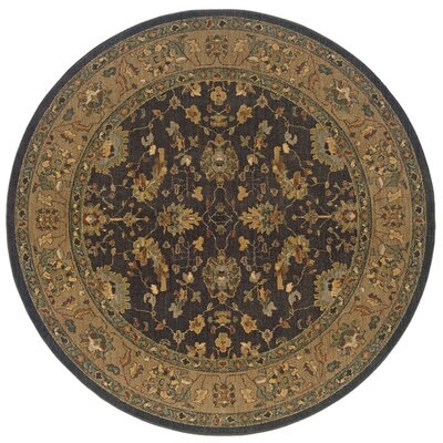 Crossreagh Brown/Black Area Rug Rug Size: Round 78