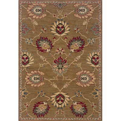 Crossreagh Beige Area Rug Rug Size: Rectangle 53 x 76