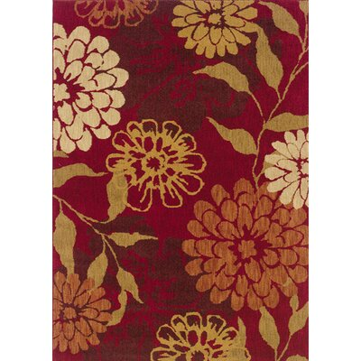 Crossreagh Red Area Rug Rug Size: 53 x 76