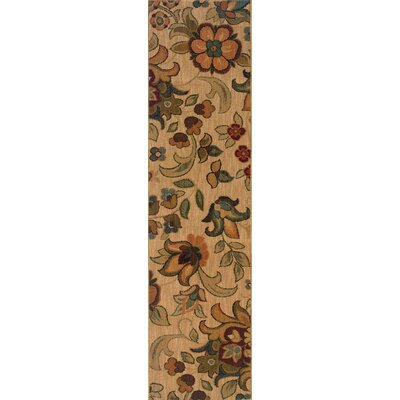 Crossreagh Beige/ Green Area Rug Rug Size: Rectangle 53 x 76