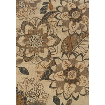Crownfield Beige Area Rug Rug Size: Rectangle 53 x 76
