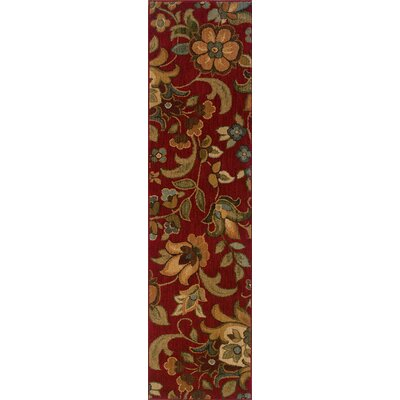 Crossreagh Red Area Rug Rug Size: Runner 110 x 76