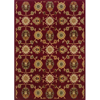 Crossreagh Red/Beige Area Rug Rug Size: 53 x 76