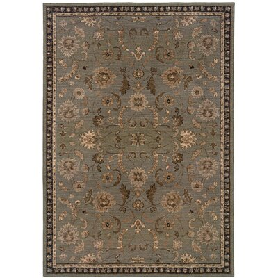 Cullman Grey/Brown Area Rug Rug Size: 53 x 76