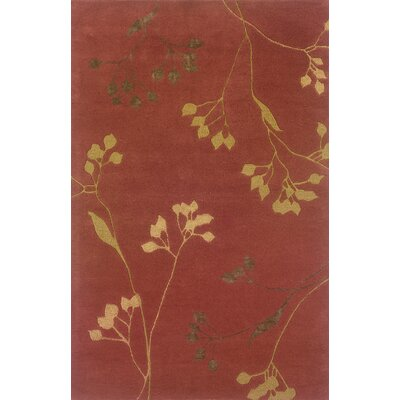 Culpeper Rust/Gold Area Rug Rug Size: Rectangle 36 x 56