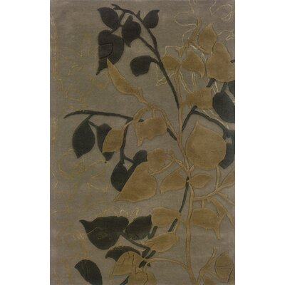 Culpeper Grey/Brown Area Rug Rug Size: Rectangle 5 x 8