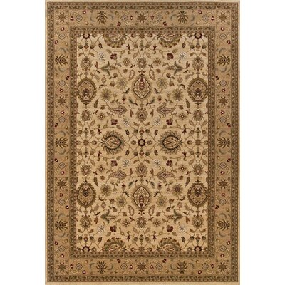 Currahee Ivory/Beige Area Rug Rug Size: Rectangle 53 x 79