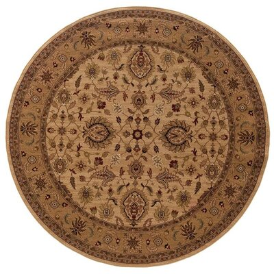 Currahee Ivory/Beige Area Rug Rug Size: Round 710