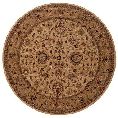 Currahee Ivory/Beige Area Rug Rug Size: Round 710