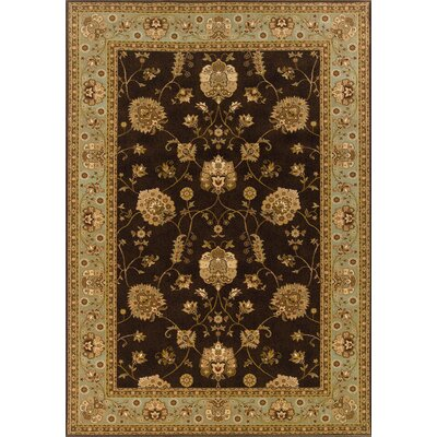 Currahee Brown/Black Area Rug Rug Size: Rectangle 910 x 1210