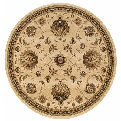 Currahee Tan/Brown Area Rug Rug Size: Round 710