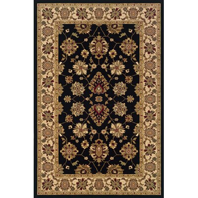 Currahee Black/Ivory Area Rug Rug Size: Runner 22 x 45