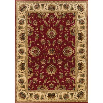 Currahee Red/Ivory Area Rug Rug Size: Rectangle 4' x 5'9