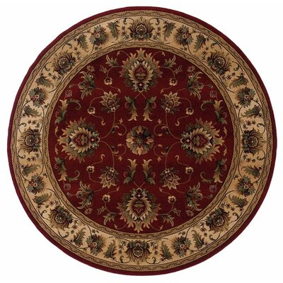 Currahee Red/Ivory Area Rug Rug Size: Round 710