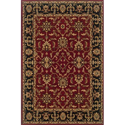 Currahee Red/Black Area Rug Rug Size: 53 x 79