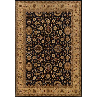 Currahee Black/Beige Area Rug Rug Size: Rectangle 67 x 96