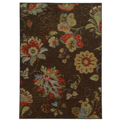 Curran Brown Area Rug Rug Size: 53 x 73