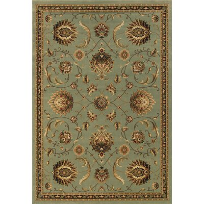 Currahee Teal Blue/Wheat Area Rug Rug Size: 53 x 79