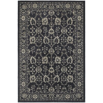 Cynthiana Persian Navy/Grey Area Rug Rug Size: Rectangle 53 x 76