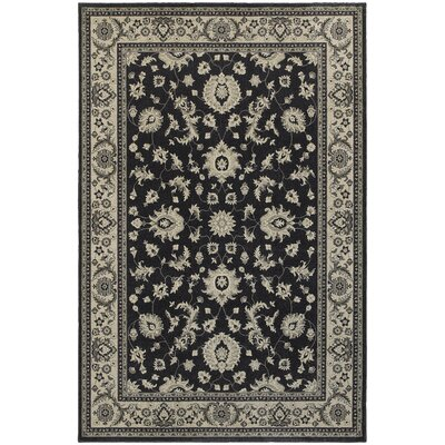 Cynthiana Charcoal/Ivory Area Rug Rug Size: Rectangle 3'10