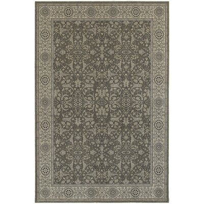 Cynthiana Gray/Ivory Area Rug Rug Size: Rectangle 53 x 76