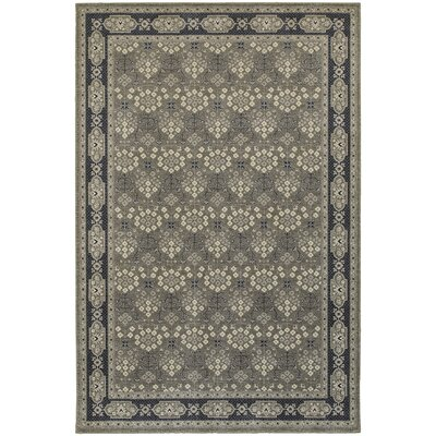 Cynthiana Gray/Navy Area Rug Rug Size: Rectangle 910 x 1210