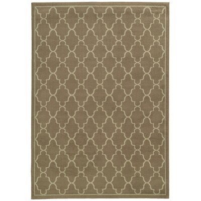 Delshire Grey/Beige Area Rug Rug Size: Rectangle 53 x 73