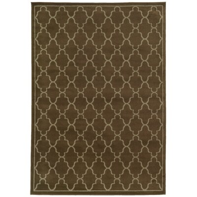 Delshire Lattice Brown/Beige Area Rug Rug Size: Rectangle 53 x 73