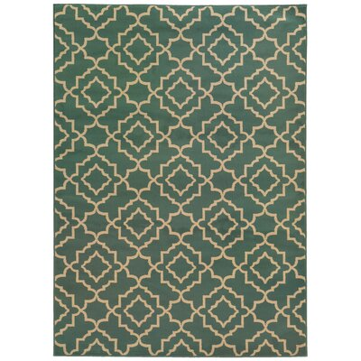 Delshire Blue/Beige Area Rug Rug Size: Rectangle 67 x 96