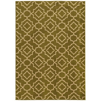 Delshire Green/Beige Area Rug Rug Size: Rectangle 53 x 73