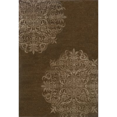 Dennison Brown/Stone Area Rug Rug Size: Rectangle 53 x 76