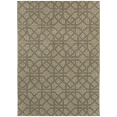 Derby Gray/Beige Area Rug Rug Size: Runner 23 x 76