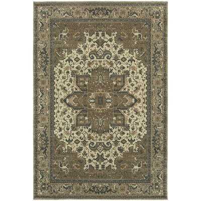 Derrymore Ivory/Gray Area Rug Rug Size: Rectangle 910 x 1210