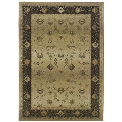 Devon Beige/Brown Oriental Area Rug Rug Size: Square 8