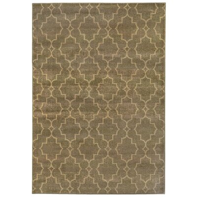 Dewolf Grey/Beige Area Rug Rug Size: Rectangle 53 x 76
