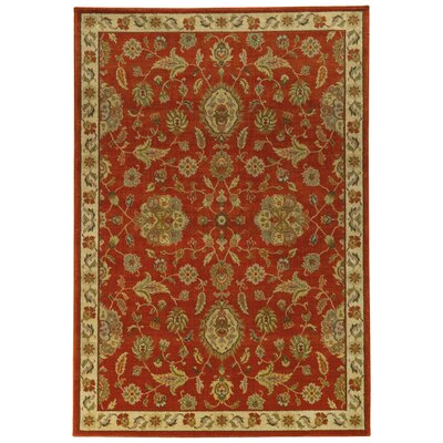 Dewolf Red/Beige Area Rug Rug Size: Rectangle 53 x 76