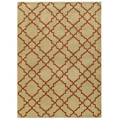 Dewolf Beige/Rust Area Rug Rug Size: Rectangle 310 x 55