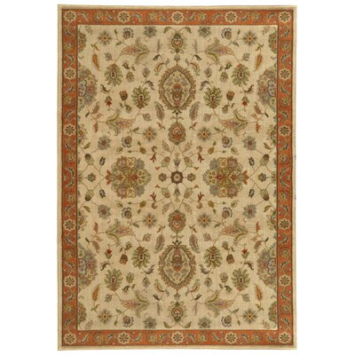 Dewolf Beige/Rust Area Rug Rug Size: Rectangle 53 x 76