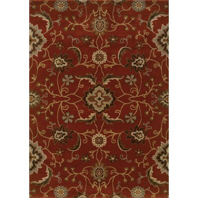 Dewolf Red Area Rug Rug Size: 67 x 96