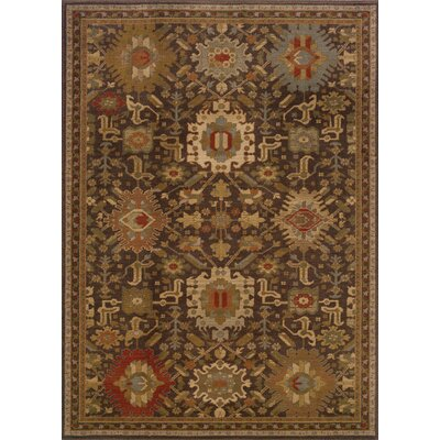Dewolf Brown Area Rug Rug Size: 910 x 1210