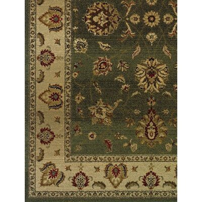 Devon Green/Beige Area Rug Rug Size: Square 8